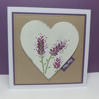 Lavender Heart Card