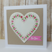 Folk Heart Card