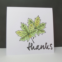 Modern Leaves Thank You