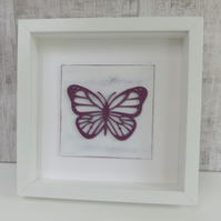 Framed Purple Butterfly