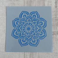 Laser Cut Mylar Stencil - Indian Flower