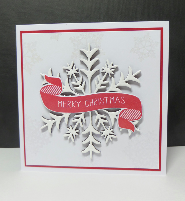 Christmas Greeting card - Merry Snowflake