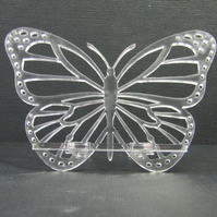 Clear Acrylic Butterfly Mobile Phone Stand