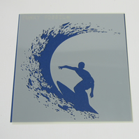Laser Cut Surfer Stencil and Mask