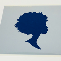 Afro Style Silhouette Stencil