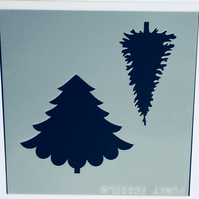 Christmas Tree Duo Stencil and Mask