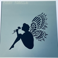 Lacy Wing Fairy Stencil