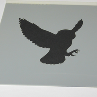 Owl in Flight Stencil
