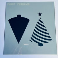Stripey Christmas Tree Stencil