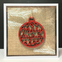 Rustic Christmas Greeting Card and Ornament