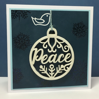 Christmas Card and Decoration - Dove of Peace