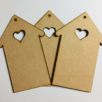 Laser cut MDF House Decorations