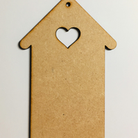 Laser cut mdf house decoration