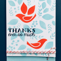 Folk Bird Thank You Card