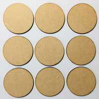 Set of 9 blank Artist Trading Coins