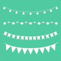 Banners and Bunting Stencil