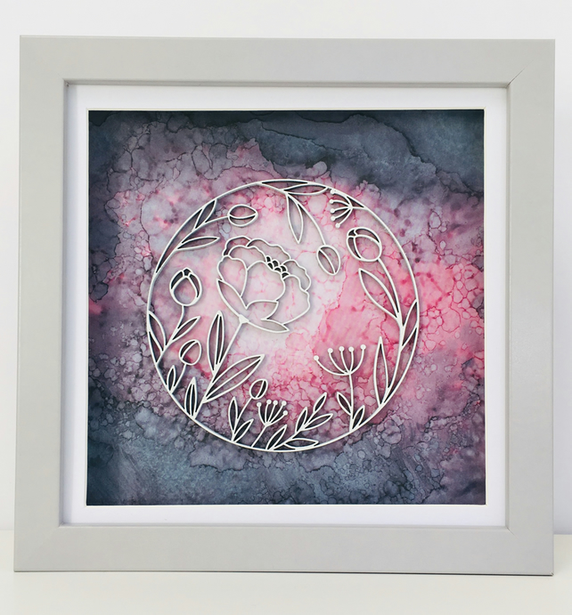 Framed Flower Circle