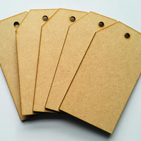 Set of 5 MDF laser cut tags