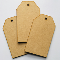 Set of 3 MDF tags