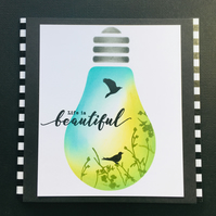 Beautiful Light Bulb Card