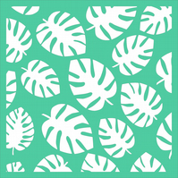 Tropical Leaves Stencil