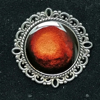 Amber Toned Resin Ring