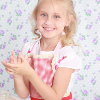Cute Kids Pinny, Aprons for Sisters, Puffed Pleated Skirt Strawberry Pinny