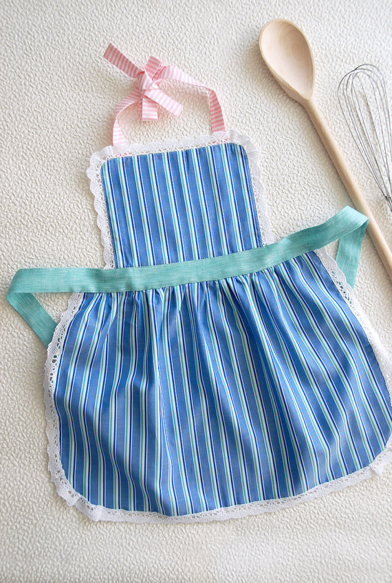 Kids 9-12 years,Mother and Child Apron, Kids Pinny,Girls Apron with Puffed Skirt