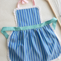 Mother and Child Apron, Kids Pinny, Girls Apron with Puffed Pleated Skirt