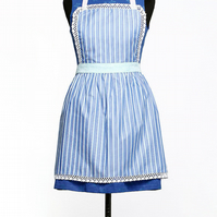 Women Apron with Puffed Pleated Skirt, Mother and Child Apron, Kids Pinny