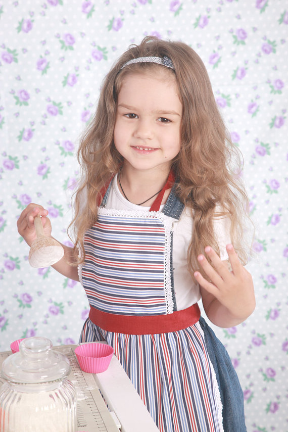 Kids Apron 8-9 years, Mother and Child Apron, Kids Pinny, Ladies & Girls Apron
