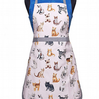 Ladies Pinny, Cat Print Men Apron, Ladies & Men Cat Aprons, Girls Apron