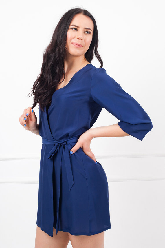 IN STOCK Royal Blue Ladies Robe, Bridesmaid & Brides Dressing Gown, Bridal Party