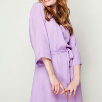 IN STOCK Lilac Ladies Robe, Blue Bridesmaid & Brides Dressing Gown, Bridal Party