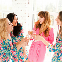 SET OF 3 Floral Bridesmaid Robes. Bridesmaid & Brides Dressing Gowns