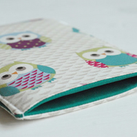 Cute Owl Print Padded Gadget Cover Case, iPad Mini Case, iPad Air Cover, Tablet