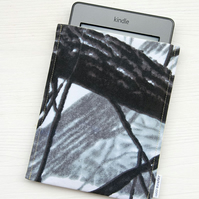 Cute Kindle Case, Kindle Paperwhite Cover, Padded Sleeve, Grey Kindle Touch Case