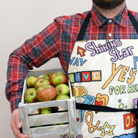 Apron for Men, Large Apron, Chef Apron, Gift for Dad, Mens Apron, BBQ Apron