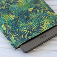 Tropical Kindle Sleeve, Kindle Touch Case, Kindle Paperwhite Cover, Green Case