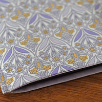 iPad Mini Cover, Lilac iPad Mini Sleeve, Floral Sumsung Cover
