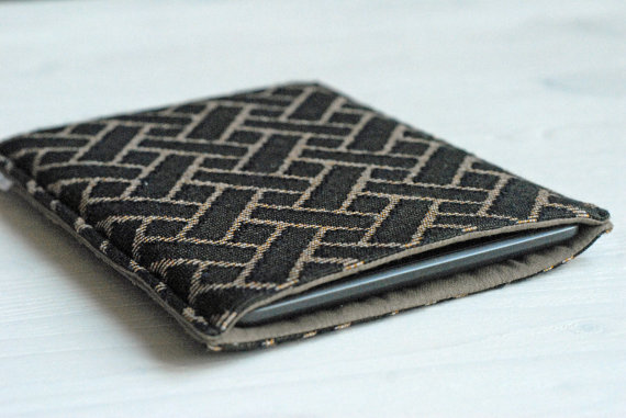 Brown iPad Mini Cover, iPad Mini Sleeve, Sumsung Cover,  Brown Geometric Case