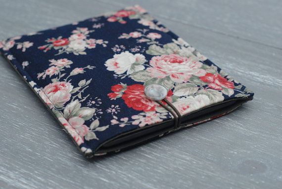 Kindle Case, Kindle Touch Cover, Floral Kindle Paperwhite Cover, Button Case
