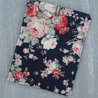 Navy iPad Mini Cover, iPad Mini Sleeve, Sumsung Cover, Floral Tablet Case