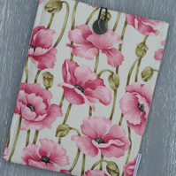Floral iPad Mini Cover, iPad Mini Sleeve, Poppy Sumsung Cover, Poppy Print Case