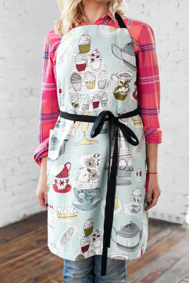 Cupcakes Baking Apron, Artisan Apron, Bakery Apron, Aprons for Women, Patisserie