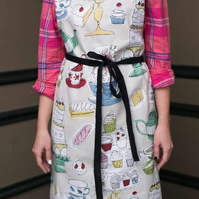 Bakery Apron, Aprons for Women, Cafe Apron, Patisserie Kitchen Apron, Cooking