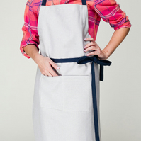 Stripy Cafe Apron, Barista Apron, Kitchen Aprons for Women, Ladies Apron