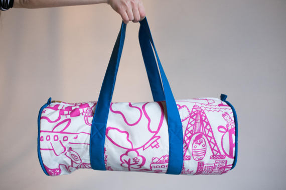 Travel Duffel Bag, Bright Gym Bag, Workout Bag, Girls Duffel bag