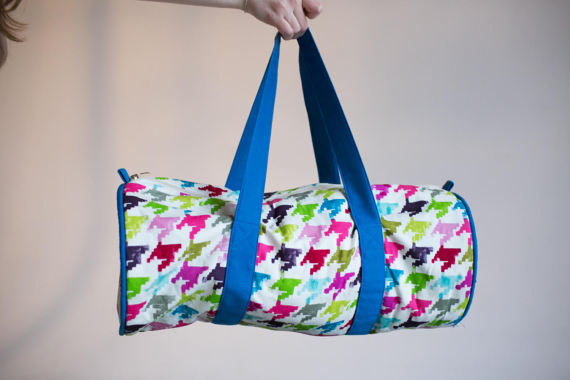 Sports Duffle bag, Travel Bag, Bright Gym Bag, Big Sports Bag