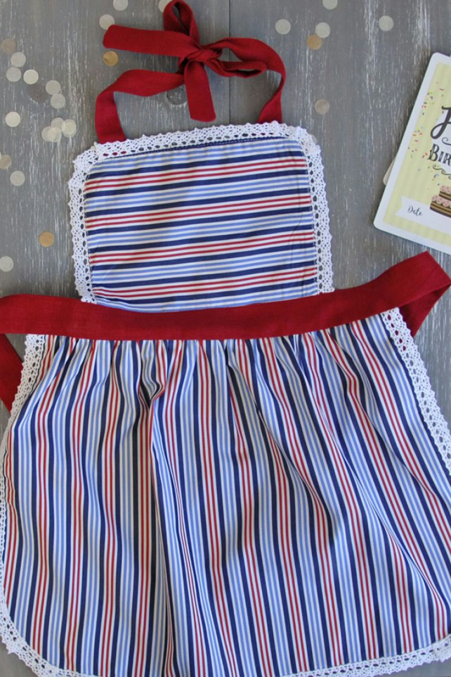 Kids Apron 9-12 years, Mother and Child Apron, Kids Pinny, Ladies & Girls Apron
